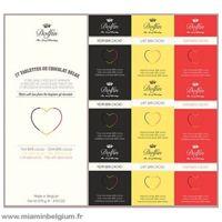 Coffret gourmand 27 tablettes de chocolat belge 270g