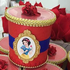 festa com tema branca no Instagram 1 Year Birthday, Girl Birthday, Birthday Parties, Birthday Ideas, Formula Can Crafts, Snow White Cake, Snow White Birthday, Princess Theme Party, Formula Cans