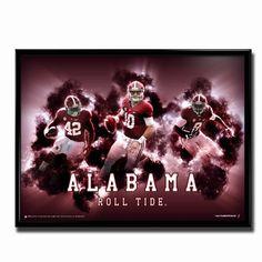 Alabama Crimson Tide Roll Tide 24x18 Football Poster