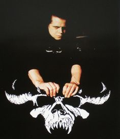 Glenn Danzig with skull