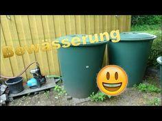 Regentonnen und Bewässerung im HobbyGarten - YouTube