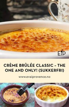 CRÈME BRÛLÉE CLASSIC – THE ONE AND ONLY! (SUKKERFRI) One And Only, The One, Creme Brulee, Pavlova, Bon Appetit, Macaroni And Cheese, Classic, Ethnic Recipes, Desserts