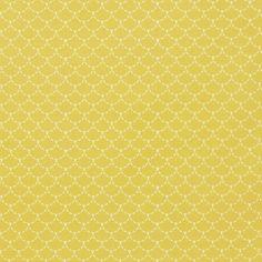 Tissu coton Ecailles Jaune - Mondial Tissus