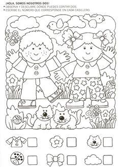 123 Manía: actividades de matemática para imprimir, resolver y colorear - Betiana 1 - Álbuns da web do Picasa Kindergarten Worksheets, Preschool Activities, Teaching Kids, Kids Learning, Hidden Pictures, Math For Kids, Kids Education, Pre School, Coloring Pages