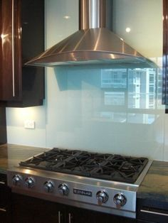 Solid Glass Backsplash