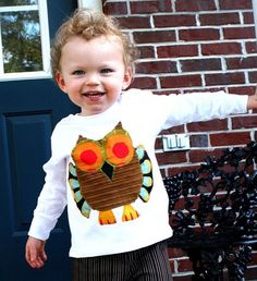 Toddler boys owl shirt and pants set  Facebook.com/shadesbybethrobertson