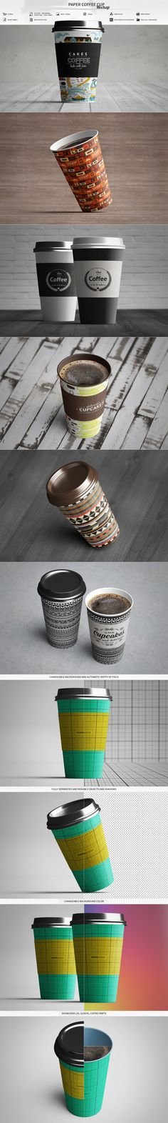 Paper Coffee Cup Mockup by MassDream on @creativemarket