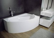 Offset Corner Bath *RIMA* SPACE SAVER 1300 x 850mm with Front Panel and Legs
