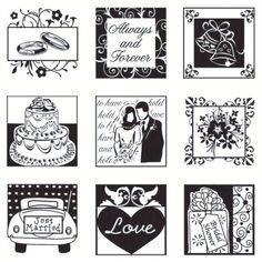 """Inkadinkado- """"Wedding"""" Inchie 60-30173"""