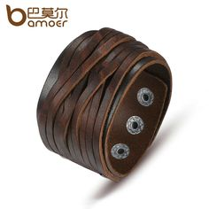BAMOER Black & Brown Genuine Leather Bracelet With Alloy Buckle Adjustable Fashion Women & Men Bracelets Jewelry PI0337-1 #electronicsprojects #electronicsdiy #electronicsgadgets #electronicsdisplay #electronicscircuit #electronicsengineering #electronicsdesign #electronicsorganization #electronicsworkbench #electronicsfor men #electronicshacks #electronicaelectronics #electronicsworkshop #appleelectronics #coolelectronics
