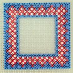 Frame hama perler beads by freubelweb