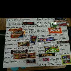 I always think this is a cute idea. I would like to use it for the Candy classroom Rules.