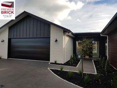 Premier Estate Brick Straight Edge in White - House bricks NZ premium house brick cladding, brick house exterior,house brick ideas,house brick colors,house bricks design Brick Cladding, House Cladding, Exterior Cladding, Exterior House Colors, Exterior Design, Bricks For Sale, White Brick Houses, Brick Colors, Small Houses