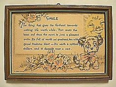 Smile Buzza Motto Print with Puppy Circa Removed Vintage Pictures, Pretty Pictures, Vintage Prints, Vintage Art, Best Motto, Mottos, Note Cards, 1920s, Puppies