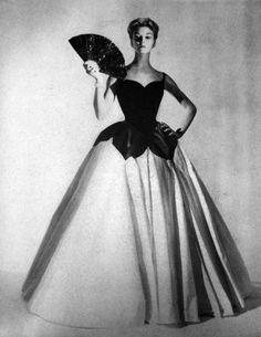 Jean Patchett in Charles James, Vogue 1951