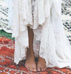 "243 Likes, 2 Comments - Mumu Weddings (@mumuweddings) on Instagram: ""Barefoot in @spell_byronbay lace ✨ #bohobride #weddinginspo"""