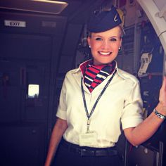 """milehighjob: """" Welcome onboard… Always big smiles with mixed fleet :D """" British Airways Cabin Crew, Air Hostess Uniform, European Airlines, Flight Girls, Trolley Dolly, Airline Cabin Crew, Intelligent Women, Aircraft Photos, Commercial Aircraft"""