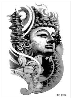 2015 New Body Art Temporary Tattoo Sticker - Popular Buddha Tattoos Designs Waterproof Large Size Sexy Arm Leg Decal Tatoo
