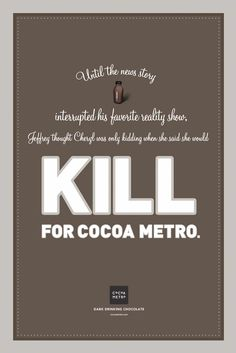 Cocoa Metro Belgian Chocolate Milk may or may not be an addiction. You decide.