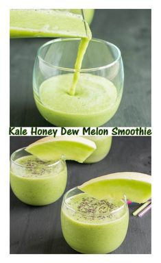 Kale Honey Dew Melon Smoothie! Enjoy every bit of summer with the great post workout drink that is naturally sweetened with fruits.