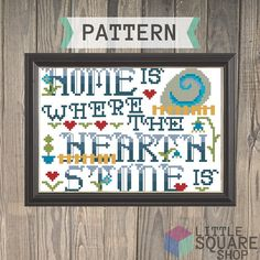 Home is Where the Hearthstone is - Hearthstone Video Game or World of Warcraft Cross Stitch Pattern - Instant Download PDF