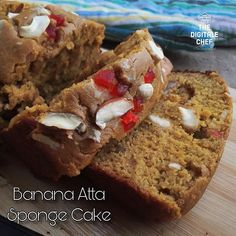 Eggless Banana  Atta Sponge Cake   After trying the Wheat Jaggery Cake for 3 times yesterday on a 4th trail Ive decided to add a Banana to it to test the Cake output. And ofcoz it is Mouthwatering and irresistible for me . With this Im more confident on baking more variety of cakes aka desserts   Follow #ChefVinoo for more interesting and Quick Recipes  #bananacake #thedigitalechef #chefsofinstagram #zingyzest #nellore #dessert #dessertporn #homemade #foodporn #yummy #GoodFoodIndia #FoodFood…