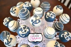 Nautical cake pops  www.facebook.com/cakepoppin