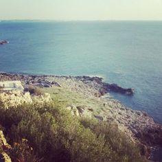 Da Porto Selvaggio si intravede Gallipoli