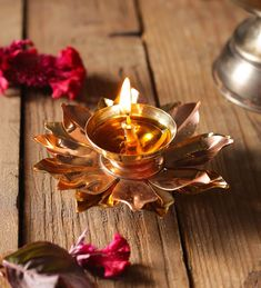Buy Copper Lotus Designer Patti Navratri Akhand Diyas By Arghyam Online: Shop from wide range of Spiritual Online in India at best prices. Diy Play Doh, Navratri Puja, Lotus, Diy Deodorant, Pooja Room Design, Copper Decor, Temple Jewellery, Jewelry, Indian Festivals