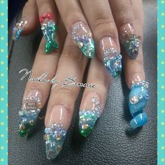Mermaid Nails with a twist Summer Nails