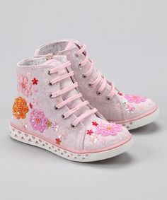 Take a look at this Pink Lizzie Hi-Top Sneaker by Blow-Out on #zulily today! #fall