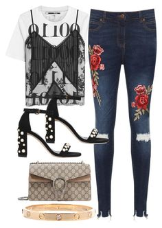 Untitled #3957 by dkfashion-658 on Polyvore featuring polyvore McQ by Alexander McQueen WearAll Stuart Weitzman Gucci fashion style clothing