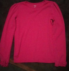 Gymboree Pups and Kisses Hot Pink Long Sleeved Top Girls Size 12 Gymboree Top #Gymboree