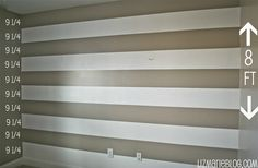 DIY striped wall how to- & the perfect tools to get it done easily!