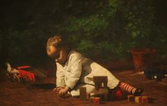 Baby at Play By Thomas Eakins - Famous Art - Handmade Oil Painting On Canvas — Canvas Paintings National Gallery Of Art, Art Gallery, Jean Leon, Oil On Canvas, Canvas Prints, Canvas Paintings, Piet Mondrian, Wassily Kandinsky, Heritage Image