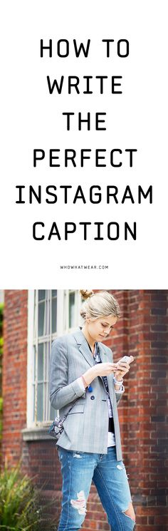 How to write the perfect instagram caption? I think we can all learn something here.