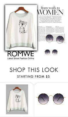 """""""Romwe"""" by kenedi-all ❤ liked on Polyvore featuring Spitfire"""