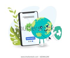 Earth Day Eco Friendly Concept Vector Stock Vector (Royalty Free) 1824951290 Earth Day Posters, World Environment Day, Happy Earth, Vector Stock, Image Now, Eco Friendly, Royalty Free Stock Photos, Banner, Concept