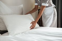 Can You Wash a Bamboo Pillow? Yes, you can wash a Bamboo pillow, make sure to use tepid water and a mild or gentle detergent that doesn't contain bleach. Das Hotel, Hotel Stay, Hotel Housekeeping, Local Hotels, Crop Image, Pillow Room, Dust Mites, Work Travel, Bamboo