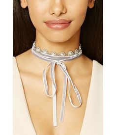 Velvet Self-Tie Choker - Jewellery - Necklaces - 1000191264 - Forever 21 EU English Velvet Shawl, Forever 21 Jewelry, English, Shop Forever, Women's Accessories, Chokers, Women Jewelry, Jewels, Necklaces