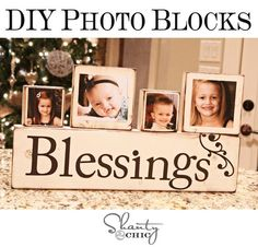 Blessings with Uppercase Living, MDF blocks, and family pictures, and a little mod podge. Easy peasy!