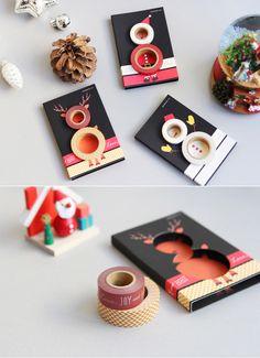 [바보사랑] Christmas petit gift set 마스킹테이프/종이테이프/꾸미기/디자인/귀여운/산타/루돌프/눈사람/일본문구/스티커