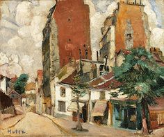 Montmartre, Paris by Mela Muter (Polish/French 1886-1967)