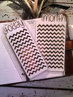 Today/Month Gold Chevron Planner Tab for by AshyLeighDesigns