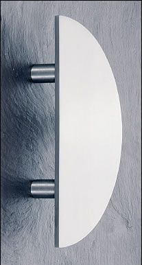 The ASH 146 is a solid flat profile semi-circular 'pad handle' with softened edges, available in a number of diameters, door fixing centres and finishes and comes complete with appropriate fixings to suit your door thickness. Available in Polished Brass, Satin Brass, Stain Anodised,  Colour coated, Polished Stainless and Satin Stainless.