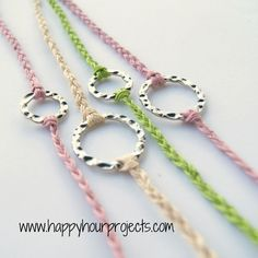 Pretty and easy - 10 minute bracelets