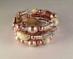 Copper and Silver Viking Knit Bracelet by Suzjewelry on Etsy, $32.00