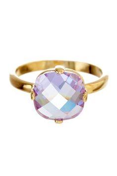 Light Amethyst CZ Stone Ring