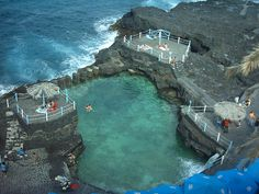 Spain, Canary Islands, La Palma, Sauces, El Charco Azul