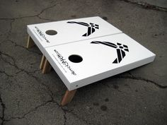 Air Force corn hole game! oh my...love it.